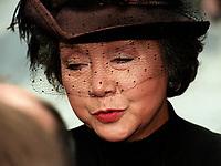 La Gouverneur-Generale du canada Adrienne Clarkson aux funerailles de Pierre Trudeau le 10 Octobre 2000, a la Basilique Notre-Dame<br /> <br /> <br /> PHOTO :  Agence Quebec Presse