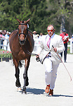 LEXINGTON, KY - April 26, 2017. #68 Petite Flower and Bruce Buck Davidson Jr. from the USA at the Rolex Three Day Event First Horse Inspection at the Kentucky Horse Park.  Lexington, Kentucky. (Photo by Candice Chavez/Eclipse Sportswire/Getty Images)