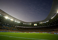 A general view of the Estadio Castelao as the sun sets