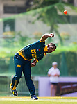 Ferisco Adams of South Africa bowls during Day 1 of Hong Kong Cricket World Sixes 2017 Group A match between Marylebone Cricket Club vs South Africa at Kowloon Cricket Club on 28 October 2017, in Hong Kong, China. Photo by Vivek Prakash / Power Sport Images