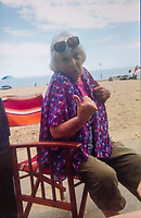 BNPS.co.uk (01202 558833)<br /> Pic: PhilYeomans/BNPS<br /> <br /> Margaret Cox whio died in 2016 - Matthew Cox(60) returns every year after a lifetime of family holidays at Avon beach with his late mother Margaret.<br /> <br /> We will fight them for the beach huts...<br /> <br /> A group of hardy souls queued up a day early in the freezing cold to secure a sought-after beach hut for the summer.<br /> <br /> They have gone to extreme lengths to snap up the 15 timber cabins available at Avon Beach, Christchurch, Dorset.<br /> <br /> The first in the queue, Jan Ryder, was in position at 6.15am on Sunday, almost 26 hours before the administration office opened at 7.30am today.<br /> <br /> By the mid-morning, the group had already swelled to half a dozen who sat on deckchairs and sipped on tea while wrapped in blankets.<br /> <br /> Matthew Cox, 60, a mechanical engineer, was in position just before 7am. He remembers being taken to the beach by his late mother Margaret as a child and has queued up each year for a hut since her passing three years ago.