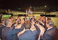 September 10, 2014,Netherlands, Amsterdam, Ziggo Dome, Davis Cup Netherlands-Croatia, Official Diner, Croatian team toast<br /> Photo: Tennisimages/Henk Koster