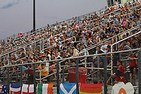 Piscataway, NJ - Saturday June 11, 2016: Yurcak Field crowd during a regular season National Women's Soccer League (NWSL) match between Sky Blue FC and FC Kansas City at Yurcak Field.
