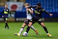 Bolton Wanderers' Lloyd Isgrove competing with Newcastle United U21's Achraf Lazaar (right) <br /> <br /> Photographer Andrew Kearns/CameraSport<br /> <br /> EFL Papa John's Trophy - Northern Section - Group C - Bolton Wanderers v Newcastle United U21 - Tuesday 17th November 2020 - University of Bolton Stadium - Bolton<br />  <br /> World Copyright © 2020 CameraSport. All rights reserved. 43 Linden Ave. Countesthorpe. Leicester. England. LE8 5PG - Tel: +44 (0) 116 277 4147 - admin@camerasport.com - www.camerasport.com