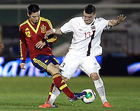 Spain's Sarabia and Norway's Kastrati during an International sub21 match. March 21, 2013.(ALTERPHOTOS/Alconada) /NortePhoto