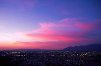 Tucson skyline at dusk, Arizona