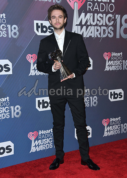 11 March 2018 - Inglewood, California - Zedd. 2018 iHeart Radio Awards - Press Room held at The Forum. Photo Credit: Birdie Thompson/AdMedia
