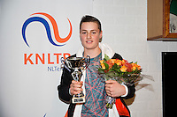 November 30, 2014, Almere, Tennis, Winter Youth Circuit, WJC,  Prizegiving, Deney Wassermann, winner masters.<br /> Photo: Henk Koster