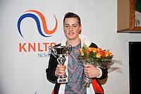 November 30, 2014, Almere, Tennis, Winter Youth Circuit, WJC,  Prizegiving, Deney Wassermann, winner masters.<br /> Photo: Henk Koster