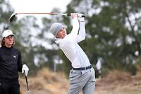 PINEHURST, NC - MARCH 02: Ben van Wyk of Augusta University tees off on the fourth hole at Pinehurst No. 2 on March 02, 2021 in Pinehurst, North Carolina.