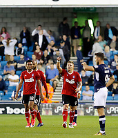 GOAL - Ipswich Town's Martin Waghorn celebrates his goal  during the Sky Bet Championship match between Millwall and Ipswich Town at The Den, London, England on 15 August 2017. Photo by Carlton Myrie.