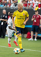 CHARLOTTE, NC - JULY 20: Mesut Ozil #10 during a game between ACF Fiorentina and Arsenal at Bank of America Stadium on July 20, 2019 in Charlotte, North Carolina.