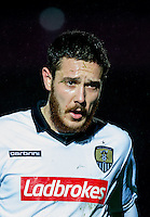 Liam Noble of Notts County during the Sky Bet League 2 match between Wycombe Wanderers and Notts County at Adams Park, High Wycombe, England on 15 December 2015. Photo by Andy Rowland.