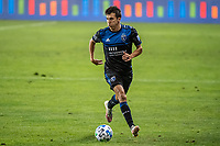SAN JOSE, CA - OCTOBER 18: Shea Salinas #6 of the San Jose Earthquakes dribbles the ball during a game between Seattle Sounders FC and San Jose Earthquakes at Earthquakes Stadium on October 18, 2020 in San Jose, California.