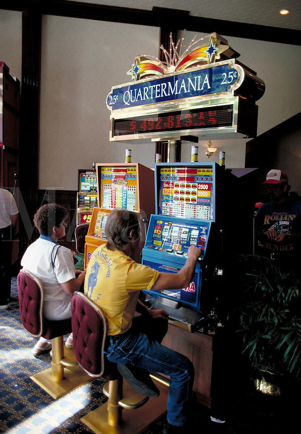Gambling is legal in this Old West town of Deadwood, South Dakota, and there are many slot machines like this in several casinos. games of chance. Deadwood South Dakota.