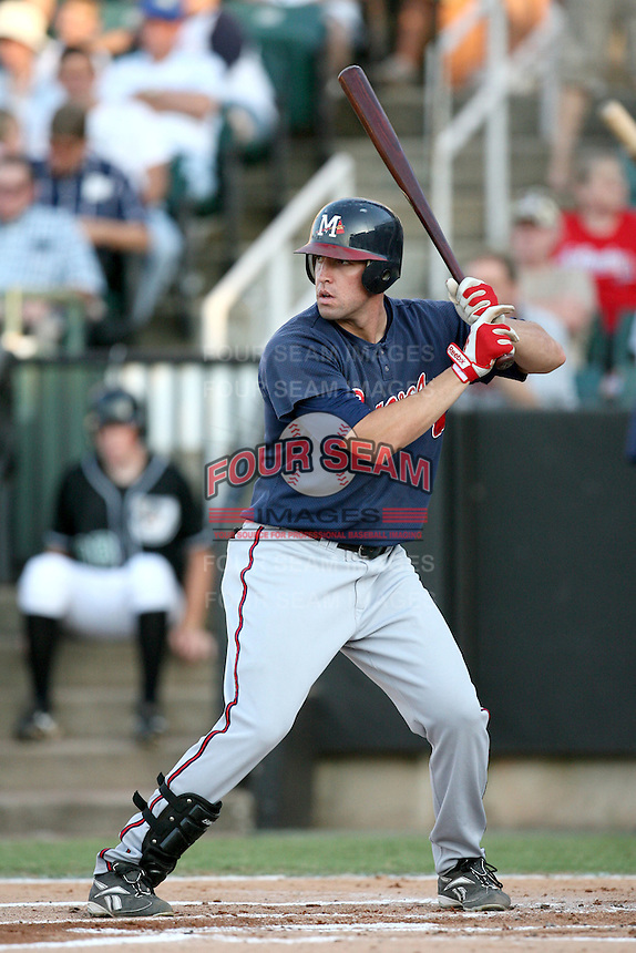 July 2, 2009: Mississippi Braves infielder Greg Creek (25) at Pringles Park in Jackson, TN. The Braves are the Southern League AA affiliate of the Atlanta Braves. Photo by: Chris Proctor/Four Seam Images