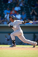 Scottsdale Scorpions Gleyber Torres (17), of the New York Yankees organization, hits a home run during a game against the Mesa Solar Sox on October 18, 2016 at Sloan Park in Mesa, Arizona.  Mesa defeated Scottsdale 6-3.  (Mike Janes/Four Seam Images)