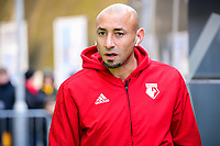 Heurelho Gomes Goalkeeper of Watford (1) arriving before the Premier League match between Brighton and Hove Albion and Watford at the American Express Community Stadium, Brighton and Hove, England on 2 February 2019. Photo by Edward Thomas / PRiME Media Images.