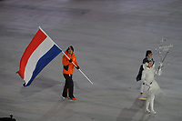 OLYMPIC GAMES: PYEONGCHANG: 09-02-2018, PyeongChang Olympic Stadium, Olympic Games, Opening Ceremony, Jan Smeekens (flag bearer The Netherlands), ©photo Martin de Jong