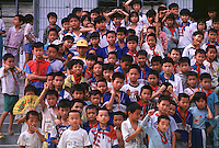 A school where there are many more boys than girls. An average gender inbalance of 118 males to 100 females caused by the Chinese Governments One Child Policy and the  preference for boys means that there is a shortage of women in China.