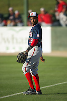 Victor Robles (16) of the Hagerstown Suns warms up in the outfield prior to the game against the Kannapolis Intimidators at Kannapolis Intimidators Stadium on May 4, 2016 in Kannapolis, North Carolina.  The Intimidators defeated the Suns 7-4.  (Brian Westerholt/Four Seam Images)