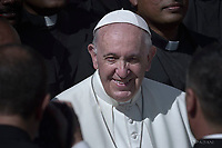 Pope Francis during of a weekly general audience at St Peter's square in Vatican, Wednesday, October. 10, 2018.