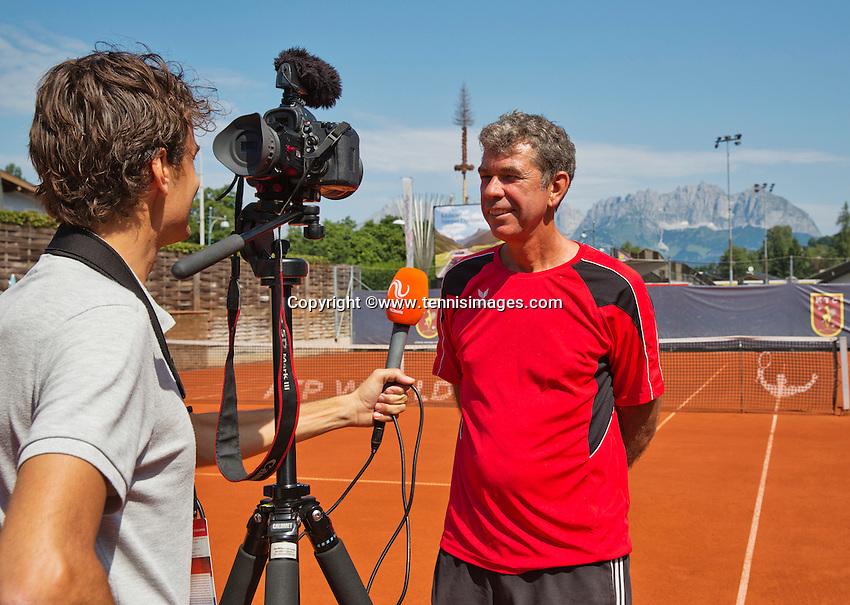 Austria, Kitzbühel, Juli 18, 2015, Tennis,  Junior Davis Cup, Austrian junior coach Michiel Schapers (NED)<br /> Photo: Tennisimages/Henk Koster