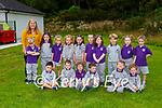 Louise Ní Muircheartaigh with her Junior Infants on their first day of school in Gaelscoil Faithleann Killarney on Wednesday (names to follow)