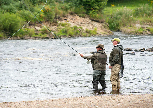 File image of anglers on the River Mourne