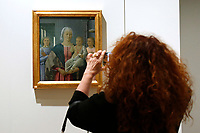 Painting by Piero della Francesca, Madonna di Senigallia, 1474, stolen in 1975 in Urbino, Italy and found in Locarno, Switzerland, in 1976<br /> Rome May 3rd 2019. Quirinale Palace. Preview of the exhibition 'The art of rescuing art' , a collection of antique artworks, paintings, statues, jewelry and terracotta artefacts rescued from the command of Carabinieri for the protection of the cultural heritage in 50 years.  Many of these artworks were stolen on commission for private collections.<br /> Photo di Samantha Zucchi/Insidefoto