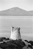 Corsica, rudere di una torretta di avvistamento --- Corsica, ruin of a watchtower