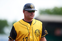 Jacksonville Suns manager Dave Berg (17) during the 20th Annual Rickwood Classic Game against the Birmingham Barons on May 27, 2015 at Rickwood Field in Birmingham, Alabama.  Jacksonville defeated Birmingham by the score of 8-2 at the countries oldest ballpark, Rickwood opened in 1910 and has been most notably the home of the Birmingham Barons of the Southern League and Birmingham Black Barons of the Negro League.  (Mike Janes/Four Seam Images)