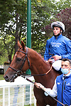 August 15, 2021, Deauville (France) - Midtown (7) with William Buick abroad after the Prix du Haras de Fresnay-Le-Buffard Jaques Le Marois (Gr I) at Deauville-La Touques Racecourse on August 15 in Deauville. [Copyright (c) Sandra Scherning/Eclipse Sportswire)]