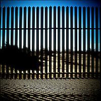 The Mexico border fence near Campo, Southern California.