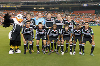 DC United starting 11 lineup with mascot Talon. DC United defeated the New York Red Bulls 4-3. DC United earned a top seed in the 2006 MLS Playoffs and will enjoy home field advantage for the entire Eastern Conference Playoffs. Saturday, September 23, 2006, at RFK Stadium.