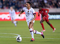 HOUSTON, TX - JANUARY 31: Lynn Williams #13 of the United States dribbles during a game between Panama and USWNT at BBVA Stadium on January 31, 2020 in Houston, Texas.