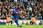 Samuel Umtiti of FC Barcelona in action during the La Liga 2017-18 match between FC Barcelona and Real Madrid at Camp Nou on May 06 2018 in Barcelona, Spain. Photo by Vicens Gimenez / Power Sport Images