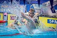 Zane Waddell of South Africa celebrates after winning men's 50m backstroke final during 18th Fina World Championships Gwangju 2019 at Nambu University Municipal Aquatics Centre, Gwangju, on 28  July 2019, Korea.  Photo by : Ike Li / Prezz Images