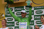 Peter Sagan (SVK) Liquigas-Cannondale retains the points Green Jersey at the end of Stage 12 of the 99th edition of the Tour de France 2012, running 148km from Saint-Jean-de-Maurienne to Annonay-Davezieux, France. 13th July 2012.<br /> (Photo by Thomas van Bracht/NEWSFILE)