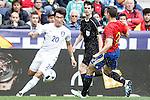Spain's Cesar Azpilicueta (r) and South Korea's Hyunsoo Jang during friendly match. June 1,2016.(ALTERPHOTOS/Acero)