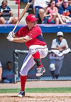 16 March 2014: Washington Nationals third baseman Ryan Zimmerman in action during a Spring Training Game against the Detroit Tigers at Space Coast Stadium in Viera, Florida. The Tigers edged out the Nationals 2-1 in Grapefruit League play. Mandatory Credit: Ed Wolfstein Photo *** RAW (NEF) Image File Available ***