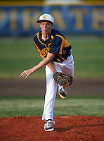 Boca Ciega Pirates pitcher Andrew Pedroff (2) during a game against the Lakeland Spartans at Boca Ciega High School on March 2, 2016 in St. Petersburg, Florida.  Boca Ciega defeated Lakewood 2-1.  (Mike Janes/Four Seam Images)