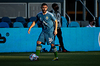 SAN JOSE, CA - MAY 12: Alex Roldan #16 of the Seattle Sounders warms up before a game between San Jose Earthquakes and Seattle Sounders FC at PayPal Park on May 12, 2021 in San Jose, California.