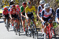 14th March 2020, Paris to Nice cycling tour, final day, stage 7;  SCHACHMANN Maximilian (GER) of BORA - HANSGROHE wit the yellow jersey and BENOOT Tiesj (BEL) of TEAM SUNWEB wit the green jersey in action  during stage 7 of the 78th edition of the Paris - Nice cycling race, a stage of 166,5km with start in Nice and finish in Valdeblore La Colmiane on March 14, 2020 in Valdeblore La Colmiane, France