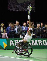 Februari 13, 2015, Netherlands, Rotterdam, Ahoy, ABN AMRO World Tennis Tournament, Stephane Houdet (FRA) <br /> Photo: Tennisimages/Henk Koster