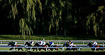 August 10, 2019 : The field in the backstretch in the Pucker Up Stakes during Arlington Million Day at Arlington International Racecourse in Arlington Heights, Illinois. Cafe Americano, ridden by Irad Ortiz Jr., won the race. Jon Durr/Eclipse Sportswire/CSM