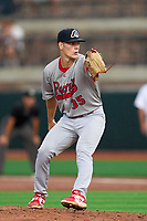 Peoria Chiefs pitcher Michael YaSenka (35) during a game against the Beloit Snappers on August 18, 2021 at ABC Supply Stadium in Beloit, Wisconsin.  (Mike Janes/Four Seam Images)