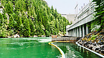 Ross Dam, across the Skagit River in the North Cascade mountains of Washington State.