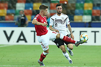 Mads Pedersen of Denmark and Marco Richter of Germany compete for the ball<br /> Udine 17-06-2019 Stadio Friuli <br /> Football UEFA Under 21 Championship Italy 2019<br /> Group Stage - Final Tournament Group B<br /> Germany - Denmark<br /> Photo Cesare Purini / Insidefoto