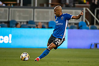 SAN JOSE, CA - SEPTEMBER 4: Judson #93 of the San Jose Earthquakes passes the ball during a game between Colorado Rapids and San Jose Earthquakes at PayPal Park on September 4, 2021 in San Jose, California.